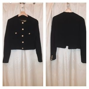 United Colors Of Benetton Black Jacket Coat Sz 8